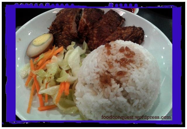 Crispy Fried Chicken Leg Rice